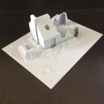 T215 - 1/32 Cottage Ruins Kit with diorama base
